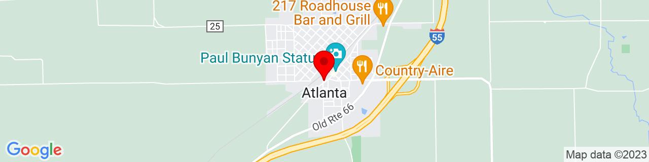 Google Map of 40.2594846, -89.2334236