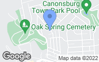 Map of Canonsburg, PA
