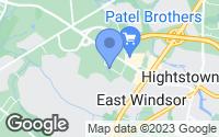 Map of East Windsor, NJ