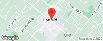 Map of 21 E Lincoln Ave in Hatfield