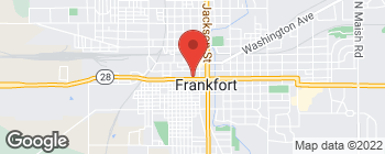 Map of 58 W Walnut St in Frankfort