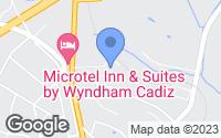 Map of Cadiz, OH