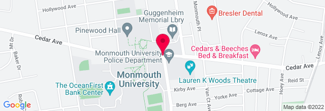 Map for Pollak Theatre, Monmouth University