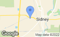 Map of Sidney, OH