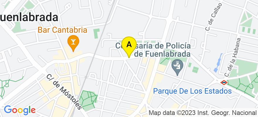 situacion en el mapa de . Direccion: C/ POLVORANCA 18, 28945 Fuenlabrada. Madrid