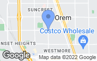 Map of Orem, UT