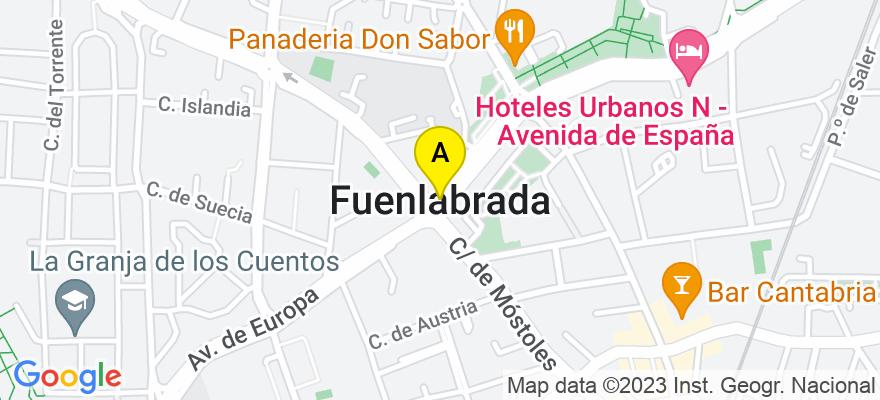 situacion en el mapa de . Direccion: AVENIDA EUROPA, 21-23 1ª PLANTA OFICINA 27, 28943 Fuenlabrada. Madrid