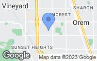 Map of Orem, UT