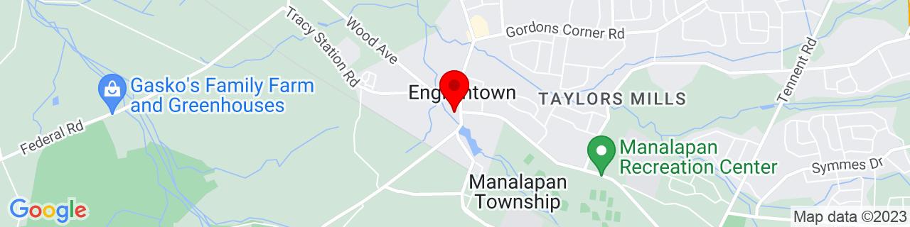 Google Map of 40.295412, -74.359132