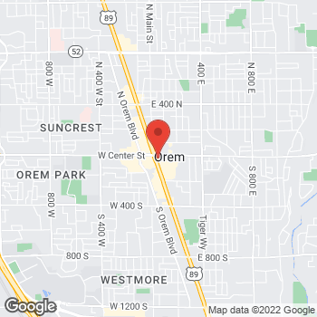Map of Sprint at 15 S State St, Orem, UT 84058