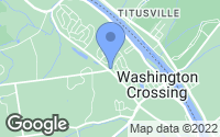 Map of Washington Crossing, PA