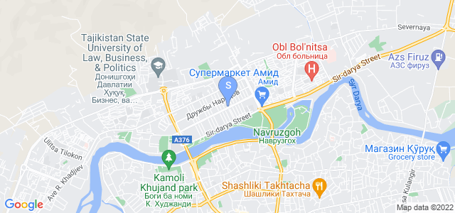 Location of Khujand  Deluxe on map