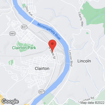Map of Speedy Café at 222 State St, Clairton, PA 15025
