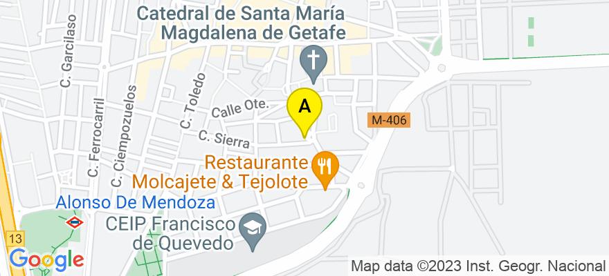 situacion en el mapa de . Direccion: C/ Pinto 20, 28901 Getafe. Madrid