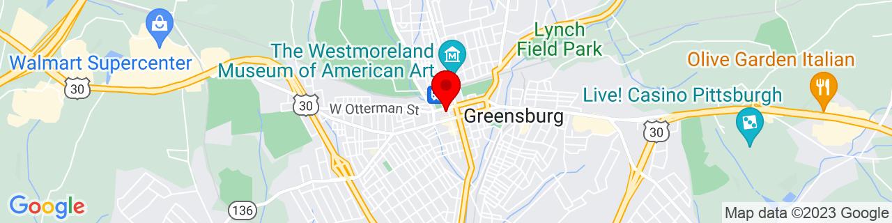 Google Map of 40.30292379999999, -79.54583199999999