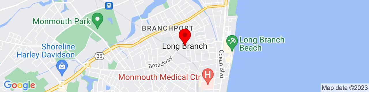 Google Map of 40.30427780000001, -73.9923596