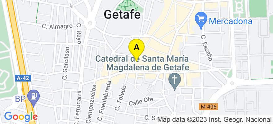 situacion en el mapa de . Direccion: CALLE MADRID Nº 4, 28901 Getafe. Madrid