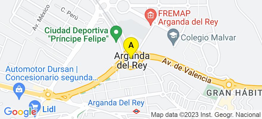 situacion en el mapa de . Direccion: Silos 43, local, 28500 Arganda del Rey. Madrid