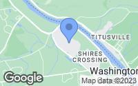 Map of Washington Crossing, PA