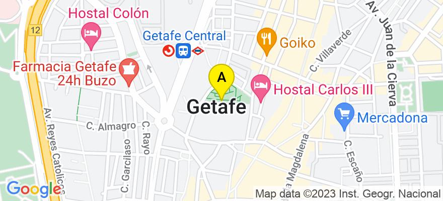 situacion en el mapa de . Direccion: C/ De la Blanca Luna, Nº3, prtl. 7, 2º-B, 28906 Getafe. Madrid