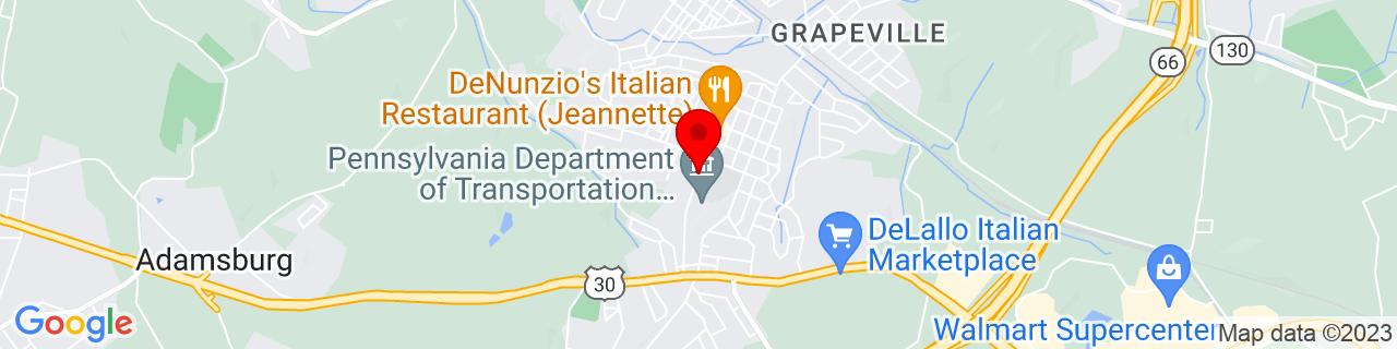 Google Map of 40.3168169, -79.6180823