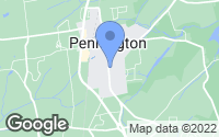 Map of Pennington, NJ