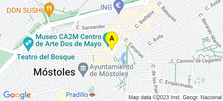 situacion en el mapa de . Direccion: Avenida de la Constitución nº 22, 28931 Móstoles. Madrid