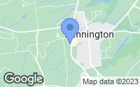 Map of Pennington, NJ