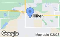 Map of Milliken, CO