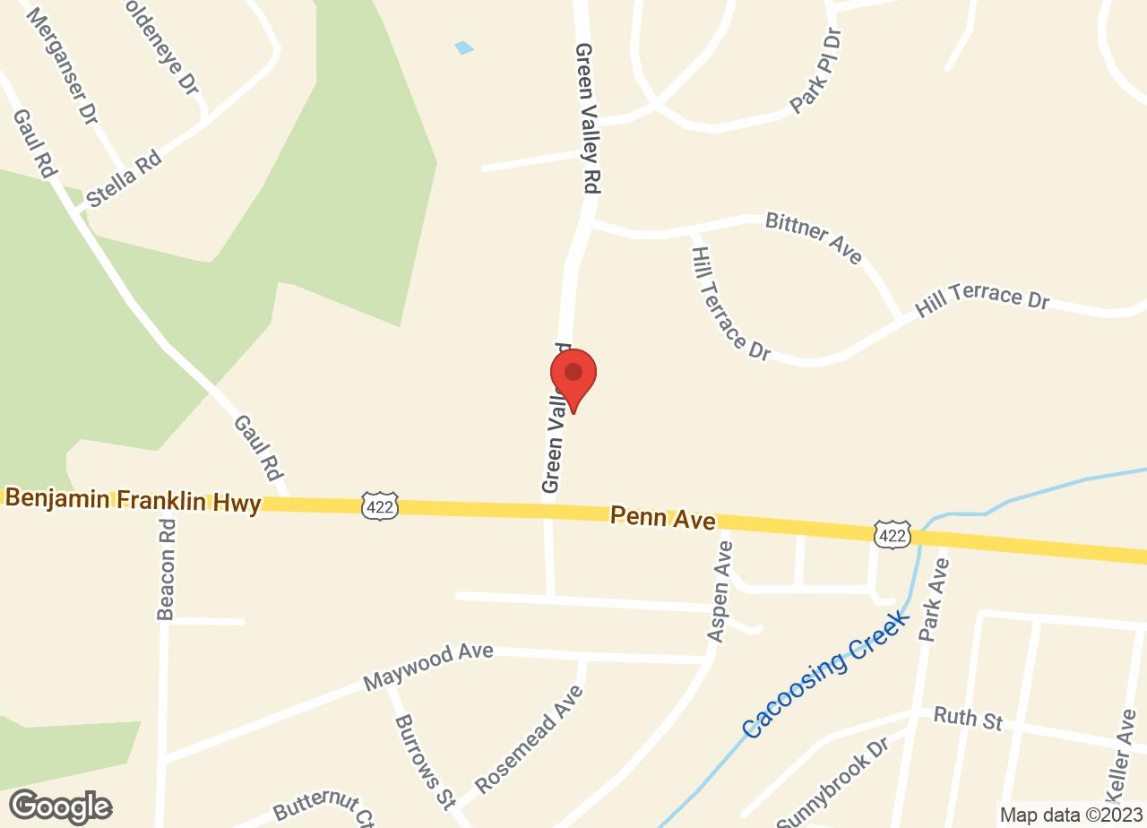 Google Map of VCA Sinking Spring Animal Hospital