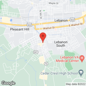 Map of Verizon Authorized Retailer, TCC at 720 Quentin Road, Lebanon, PA 17042