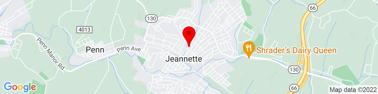 Google Map of 40.33071899999999, -79.613795