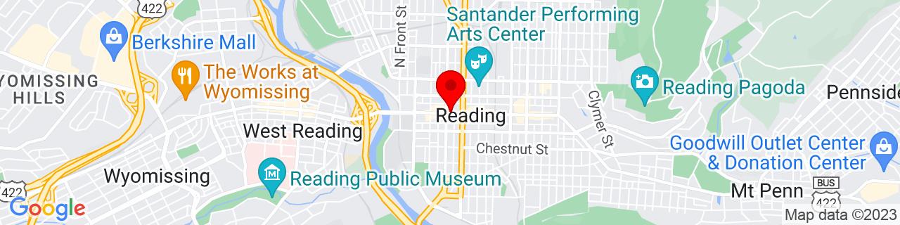 Google Map of 40.3353974, -75.9293625