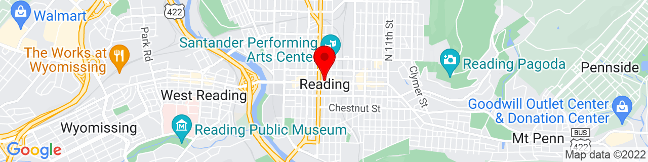 Google Map of 40.33555555555556, -75.92694444444444
