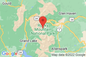 Map of Rocky Mountain National Park Area