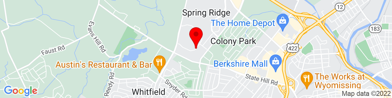 Google Map of 40.3451566, -75.9927652