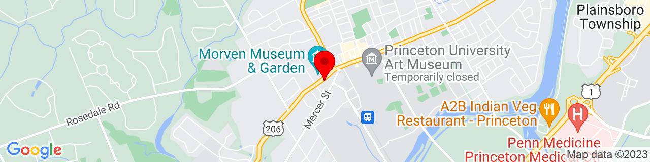 Google Map of 40.3467929, -74.6660655