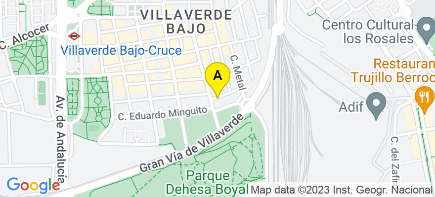 situacion en el mapa de . Direccion: c/ azufre,  2, bajo b, 28021 Madrid. Madrid
