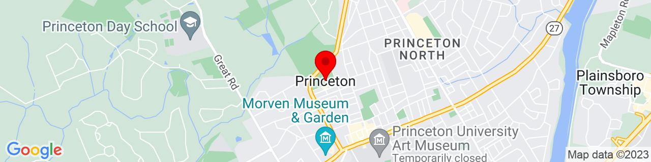 Google Map of 40.3572976, -74.6672226
