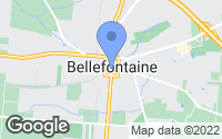 Map of Bellefontaine, OH