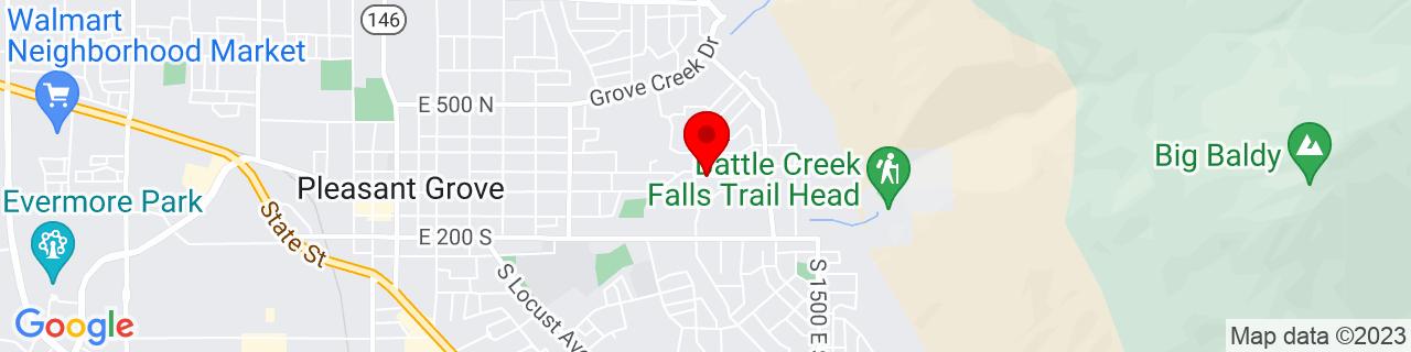 Google Map of 40.3648189, -111.7147555