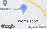Map of Womelsdorf, PA