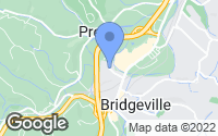 Map of Bridgeville, PA