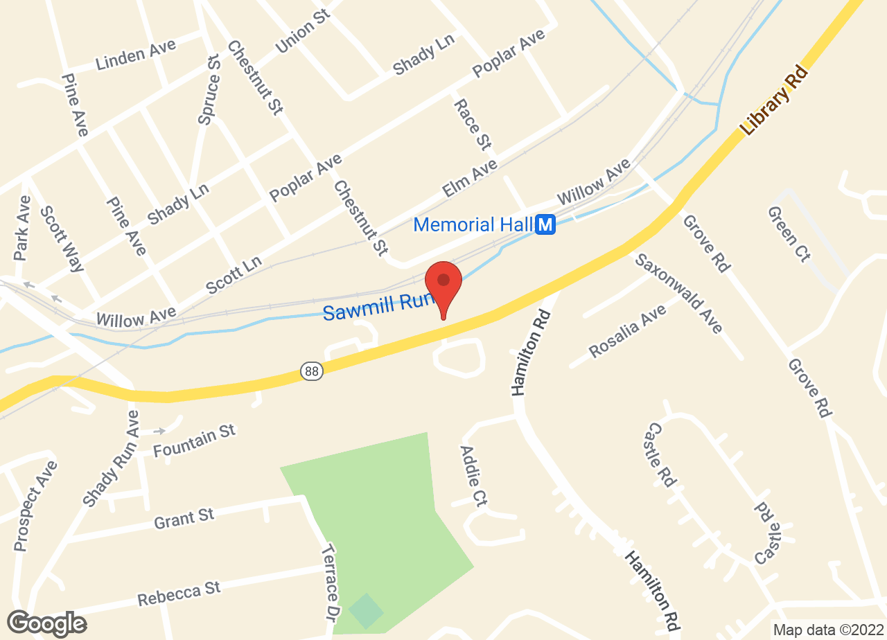 Google Map of VCA Castle Shannon Animal Hospital