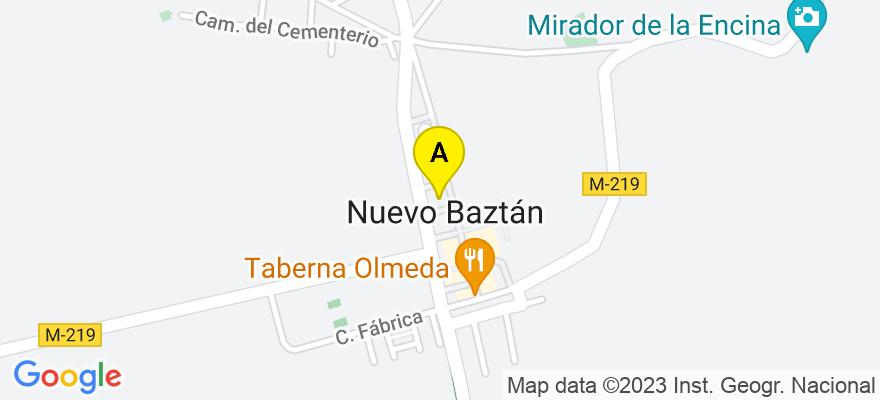 situacion en el mapa de . Direccion: AVDA DE DUBLIN, 41, 28514 Nuevo Baztán. Madrid