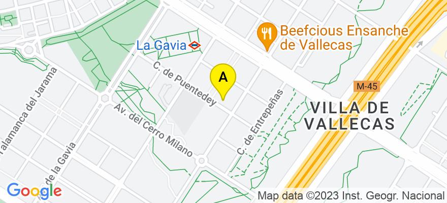situacion en el mapa de . Direccion: c/ Puentedey 25, 28051 Madrid. Madrid