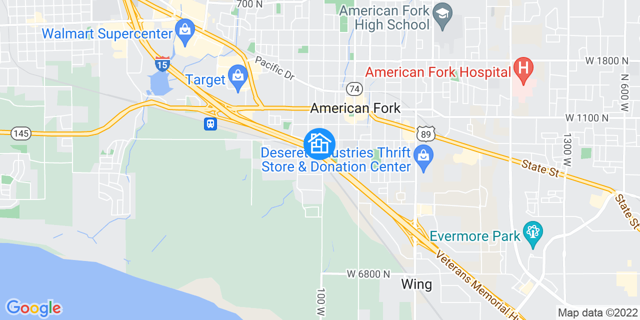 Google Map General Area
