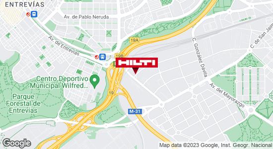 Obtener indicaciones para Tienda Hilti-Madrid (Vallecas)