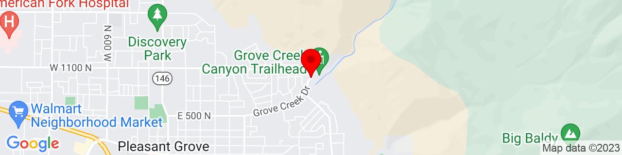 Google Map of 40.3742251, -111.7135832