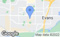 Map of Evans, CO